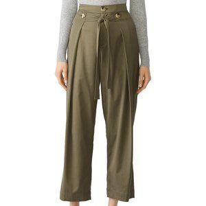 Jason Wu Grey Cropped Trouser Pants Olive Green